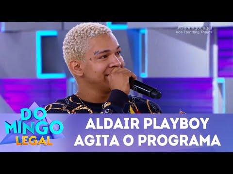 Aldair Playboy agita o programa     Domingo Legal (29/07/18)