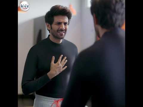 Hairy Calling Harry Veet Men Hair Removal Cream Kartik Aaryan