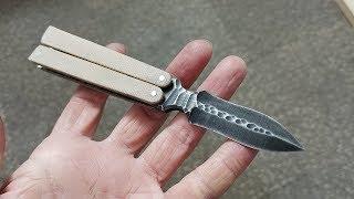 미니 버터플라이 칼 만들기 / Knife Making - MINI Butterfly Knife (balisong)