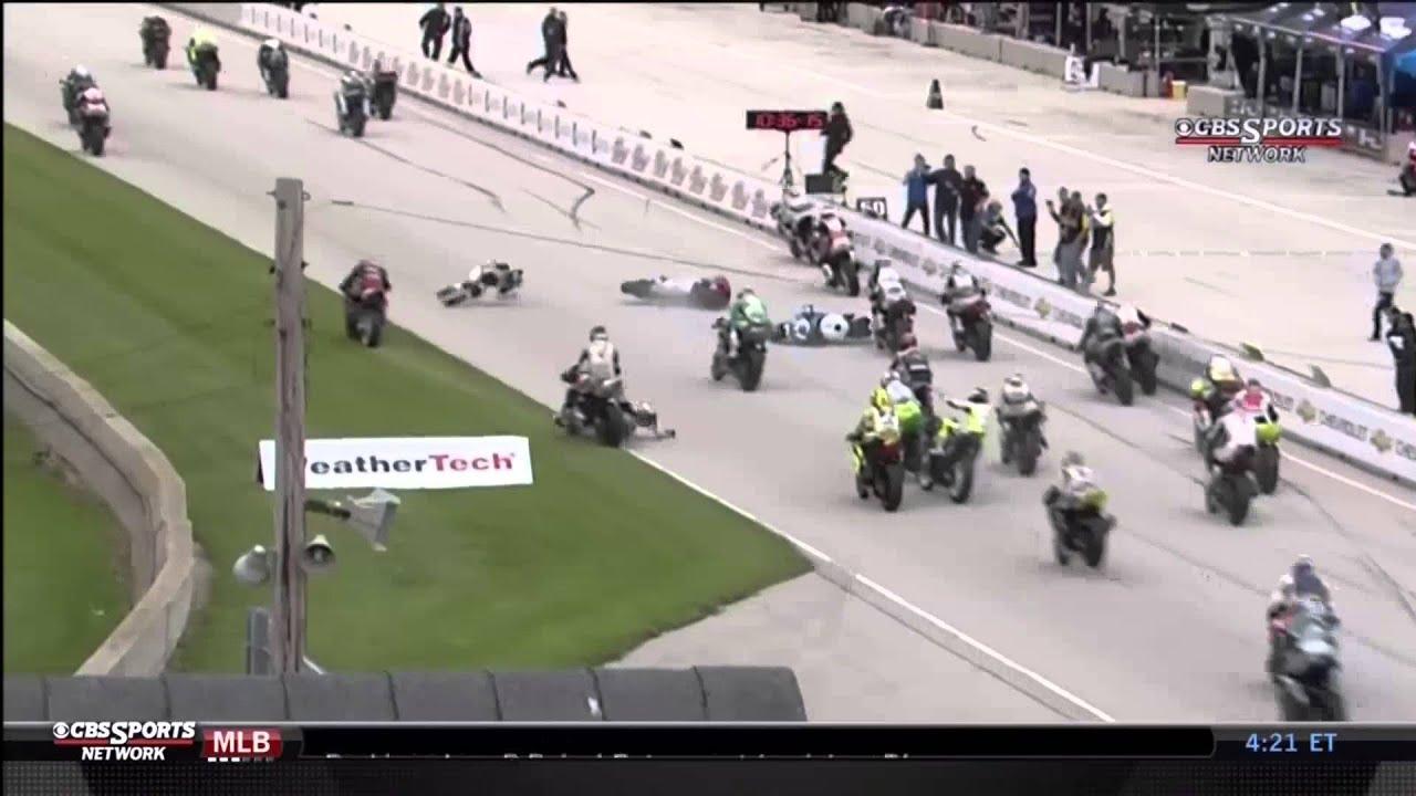 road america supersport crash - youtube