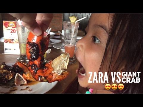 Zara Makan KEPITING JUMBOOO !!! Giant Crab at Dapur Seafood Jakarta Indonesia
