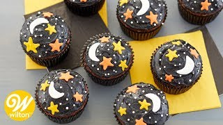 How to Make Night Sky Halloween Cupcakes | Wilton