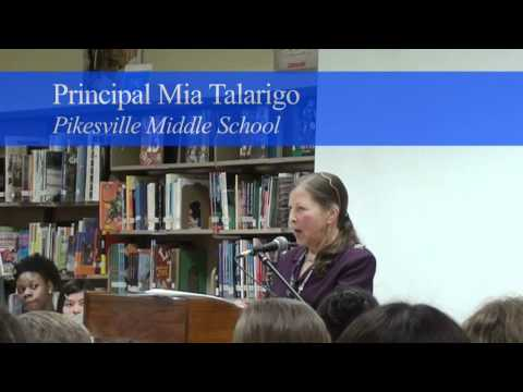 Pikesville Middle School Reading Room Opening Ceremony