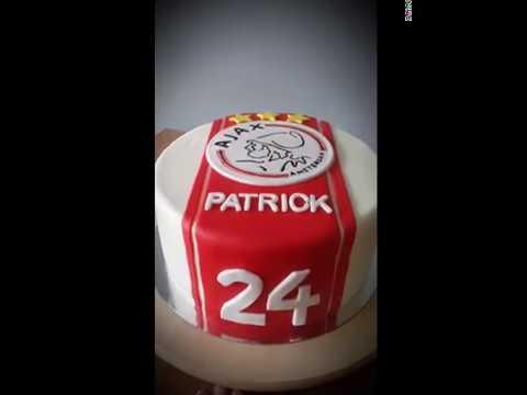 Uitzonderlijk Ajax taart - YouTube &OF85