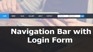 Navigation Bar With Login Form  Html And Css