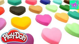 Learning Alphabet And Colors | Learn ABC | ABC Hearts From Play-Doh Plasticine