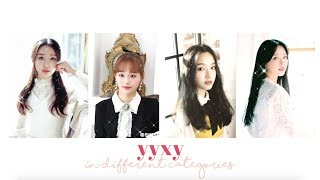 yyxy ranking in different categories | loona