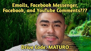Driver Code: MATURO | Emails | Facebook Messenger | Facebook