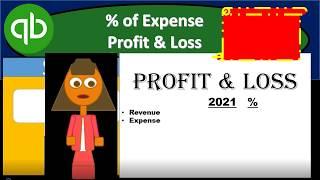 QuickBooks Pro 2018 Percentage of Expense Profit & Loss - QuickBooks Desktop 2019