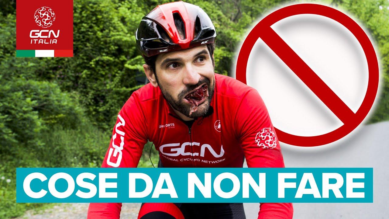 5 Cose da non fare in bici