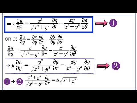 Equations Aux Derives Partielles Exercice Corrige Youtube