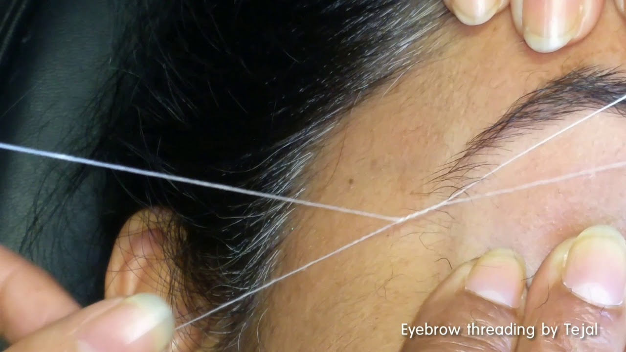 Eyebrow Threading By Tejal 3 Youtube