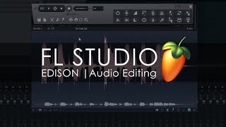 EDISON | Audio Editing Introduction