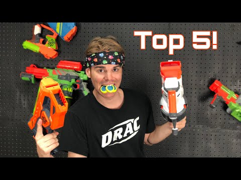 NERF TOP 5: BEST Nerf VORTEX Blasters Of All Time!