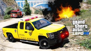 GTA 5 LSPDFR #580 - Fire Watch Park Ranger Catches Guy Starting A Wildfire In The Forest
