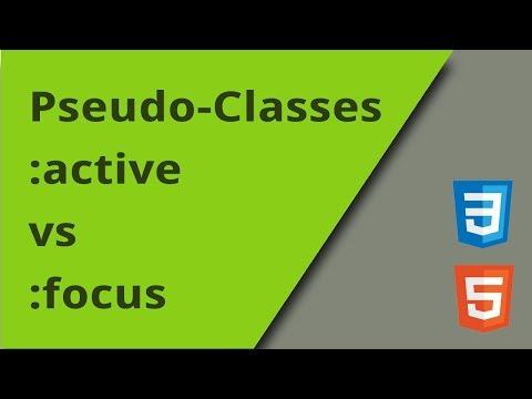 Active Vs Focus Pseudo Classes