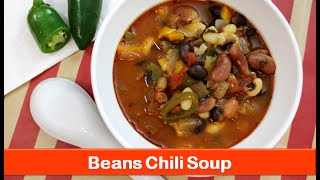 Beans Chili Soup Recipe/veg Chilli Beans Soup/easy Healthy Vegan Dinner Recipes-let's Be Foodie