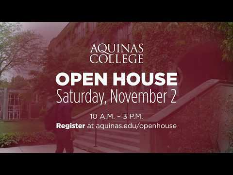 Aquinas College Open House: Saturday, Nov. 2, 2019 // 1700 Fulton St. E., Grand Rapids, MI 49506