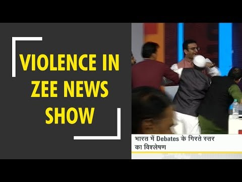 DNA: Violence between BJP spokesperson and Samajwadi party spokesperson in Zee News show