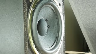 Pioneer 8 inch subwoofer bass excursion test [sweep tone]