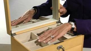 Sloane Wooden Jewelry Box Maple - Product Review Video