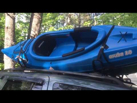 How To Secure a Kayak On Car or SUV Using J Bar Roof Rack