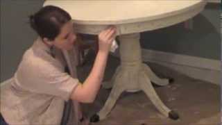 Diy Chalk-like Paint Table Makeover - Antique White (part 2 Of 2)