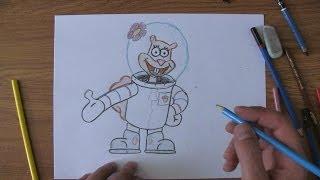 How To Draw Sandy Cheecks From Sponge Bob