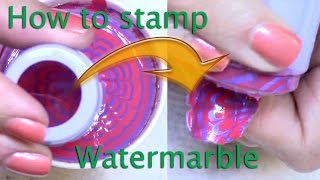 How to stamp your water marble!