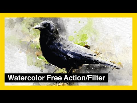 Photoshop Action Auto Play - Watercolor Photoshop Action Free Download