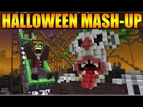 minecraft halloween mash up presentation skin maison hantee xbox ps3 youtube. Black Bedroom Furniture Sets. Home Design Ideas
