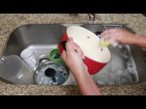 WASHING DISHES [ASMR]   splashing, water sounds, clinking, metals, etc.   Relaxation Angel