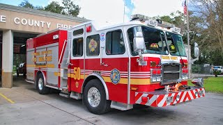 Engine 50 + Medic 4 Returning - Orange County Fire Rescue Department