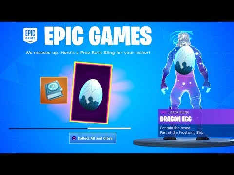 COLLECT YOUR FREE BACK BLING In Fortnite! (DRAGON EGG)