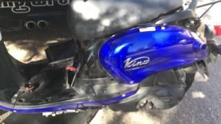 YAMAHA VINO 125 oil change and spark plug change