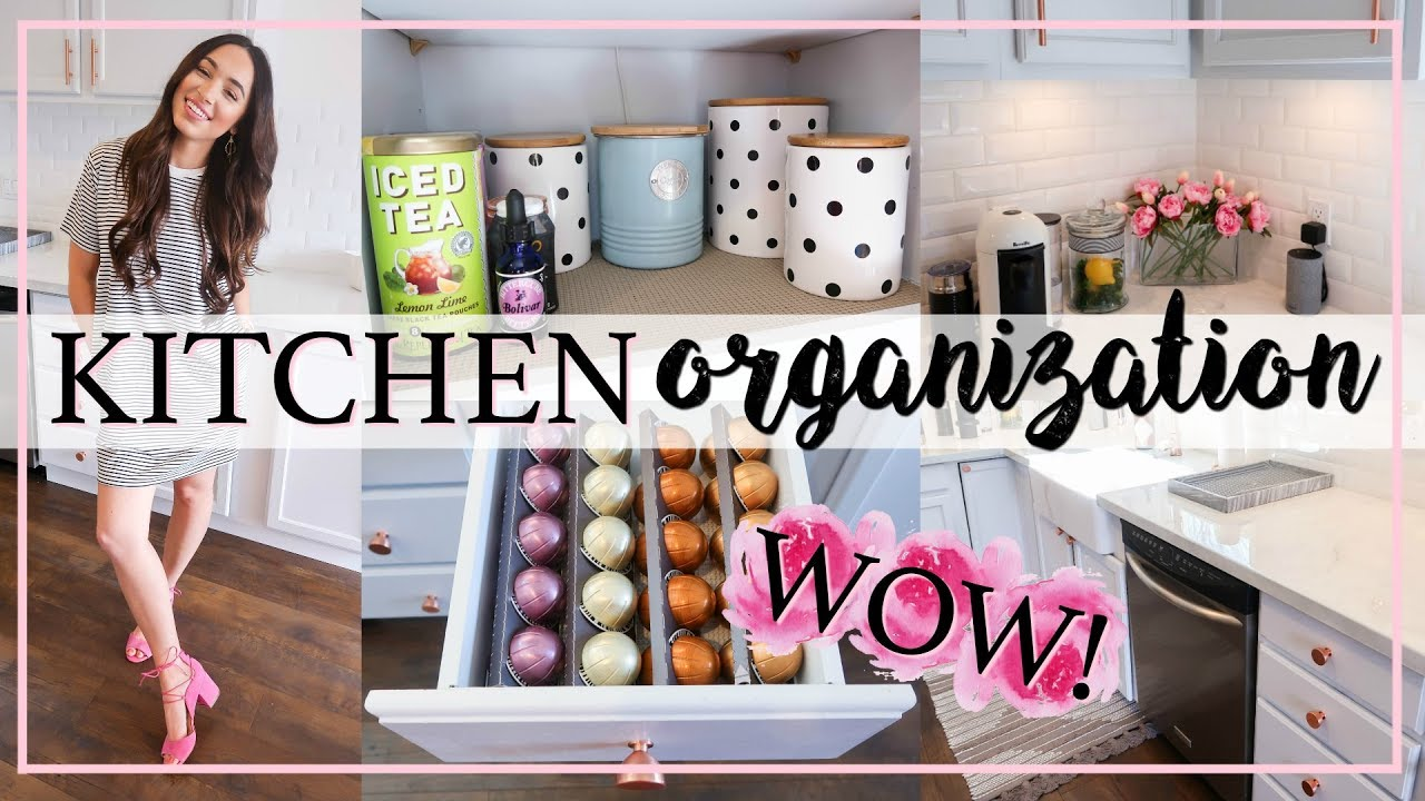KITCHEN ORGANIZATION IDEAS AND HACKS SPRING 2018 | Alexandra