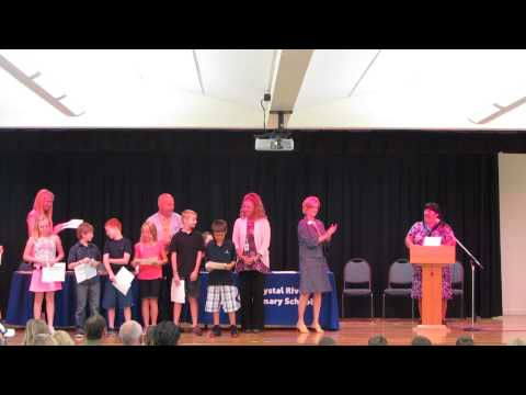 Crystal River Primary School 4th  Grade Academic Achiever Awards 2014