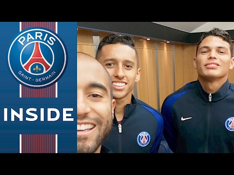 VISITE DU VESTIAIRE /// CHANGING ROOM SECRETS by Thiago Silva, Lucas and Marquinhos