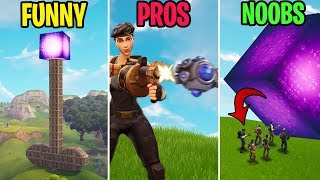 Noobs Get CRUSHED By the Cube! FUNNY vs PRO vs NOOBS! Fortnite Funny Moments (Battle Royale)