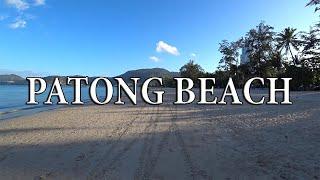 Пхукет пляж Патонг утром Тайланд обзор пляжа phuket patong Thailand Пхукет Патонг Тайланд