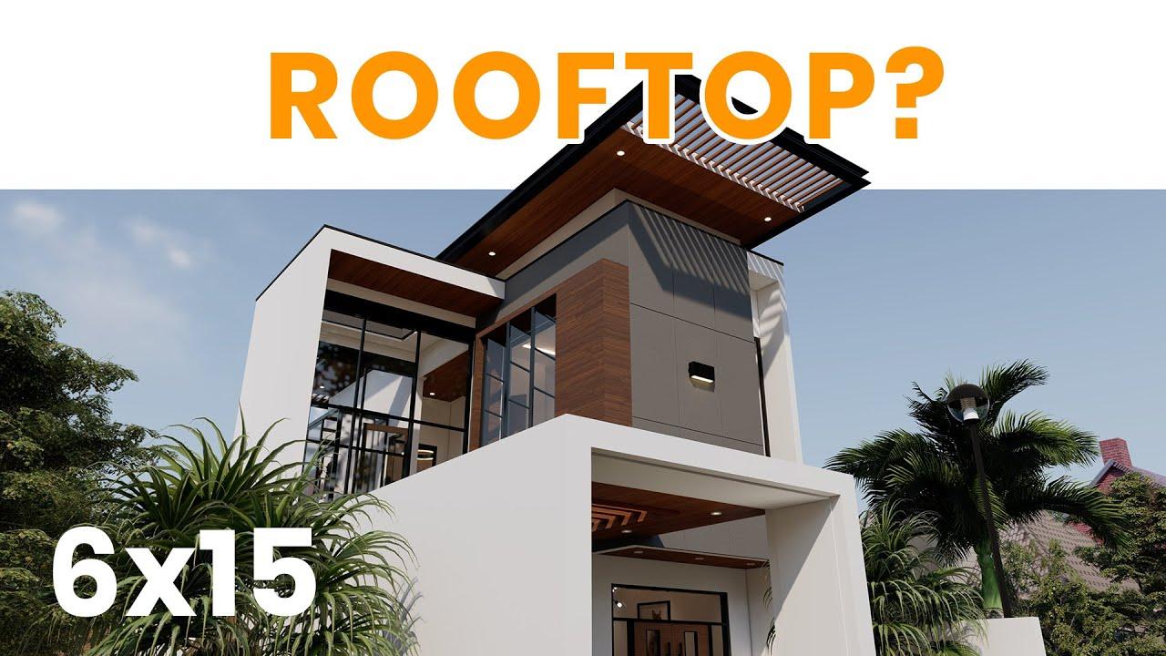 42 Desain Rumah Minimalis 2 Lantai Dengan Rooftop Konsep Spesial