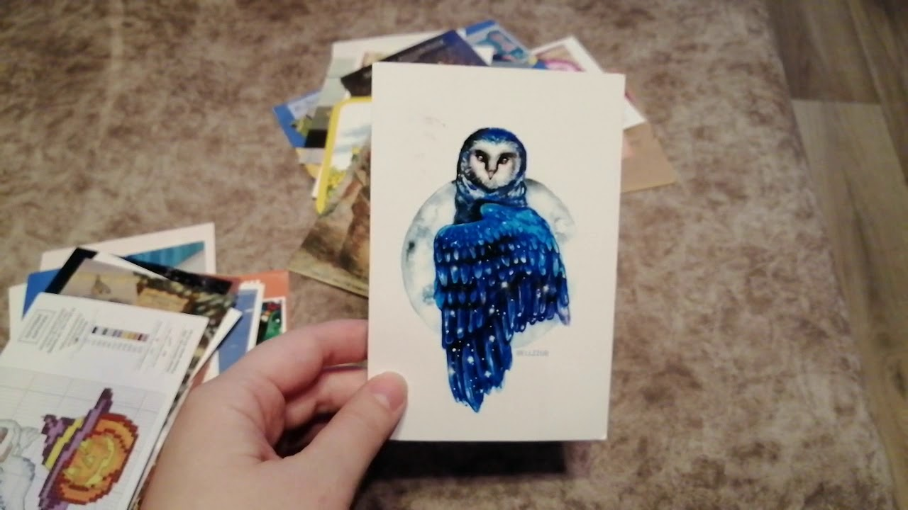 как сделать открытку для посткроссинга своими руками после