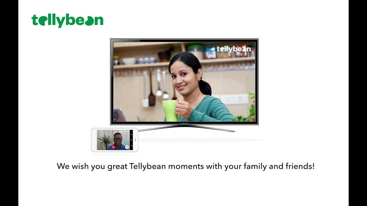 Tellybean video calling - How to call on TV