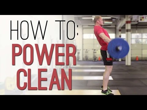 How to POWER CLEAN: Power Clean properly - exercise demonstration with correct technique