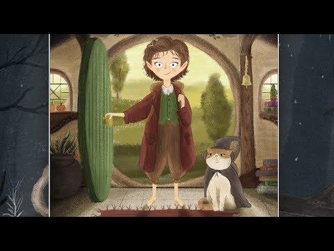 Bilbo Baggins Illustration - Digital Painting Art diy - Lord of the rings - character design