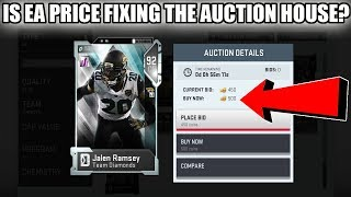 IS EA PRICE FIXING THE AUCTION HOUSE? PRICE FIXING CARDS PRICES!   MADDEN 19 ULTIMATE TEAM