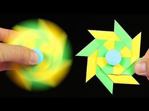 How To Make A Paper Fidget Spinner WITHOUT BEARINGS | Origami Fidget Spinner | DIY Fidget Spinner