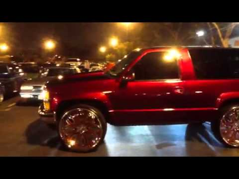 Candy painted trucks red and green but looks blue - YouTube
