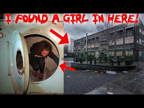 I FOUND A GIRL IN A HAUNTED ABANDONED COLLEGE BASEMENT!