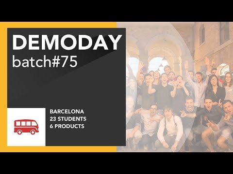 Coding Bootcamp Barcelona | Le Wagon - Batch #75 Demo Day